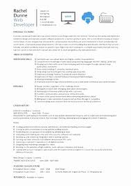 Sample Resume For Web Designer Extraordinary Web Developer Resume Sample Pdf Lovely Web Designer Resume Sample