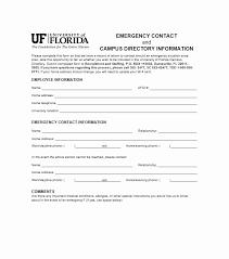 Employee Emergency Contact Information Template Emergency Contacts Form Template New 7 Best Of Printable