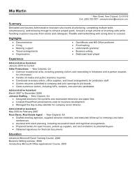 Sample Resume Admin Sample Administrative Resume Emelcotest Com