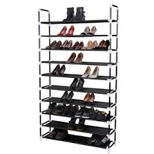 Home Basics 10 Tier Coated Non Woven Shoe Rack 100 Tier Shoe Rack Wayfair 36
