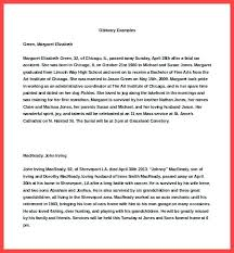 Sample Obituary Example Of Search – Inspiredworks