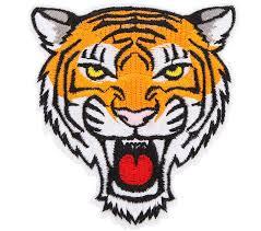 bij kiki iron on patch tiger face
