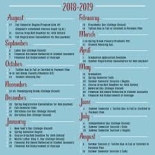 2018 2019 Academic Calendar