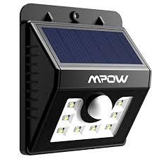 Mpow <b>Solar</b> Lights, <b>8 LED</b> Super Bright Motion Sensor Security ...
