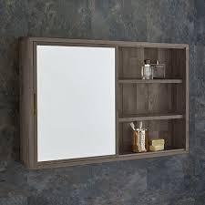 wide solid oak mirror bathroom cabinet