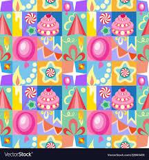Birthday Cards Design For Kids Celebratory Set Of Birthday Greeting Cards Kids Vector Image