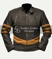 x men origins wolverine mens fashion celebrity cosplay logan style leather jacket front