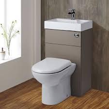 2-in-1 Toilet & Basin Combination Unit Stone Grey - Image 1