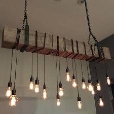 a custom reclaimed barn beam chandelier light fixture modern industrial rustic restaurant bar lighting made to order from woodworking wood uk
