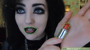 image led apply goth makeup step 6
