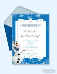 Free 12 Frozen Party Invitation Designs Examples In