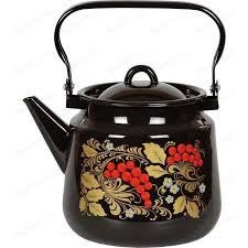 Купить <b>Чайник эмалированный 3.5 л</b> СтальЭмаль Рябина (1с26я ...