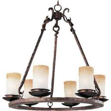 notre dame 6 light oil rubbed bronze chandelier