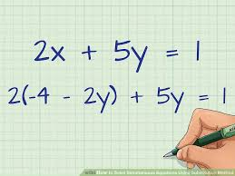 image titled solve simultaneous equations using substitution method step 3