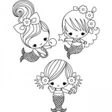 Small Picture Mermaid Coloring In Pages Coloring Pages