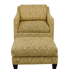 ethan allen ethan allen beige and gold monterey chair and ottoman nj