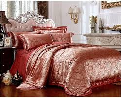 red gold bed linen malmod com for luxury font b satin jacquard bedding sheets