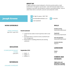 Create Professional Cv Cv Examples And Cv Templates For Free Studentjob Uk