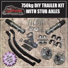 diy single axle trailer kit 750kg rated stub axles