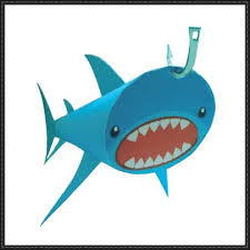 the shark paper toy  mark the shark paper toy