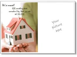 housewarming cards to print printable moving announcements add a photo change of address