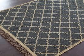 rugsville crossing diamond black jute wool kilims 13648 rug 13648