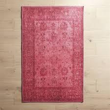 mae overdyed fuchsia rug