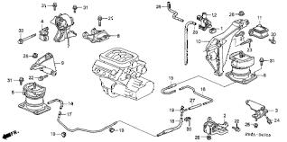 honda online store 2002 accord engine mounts v6 parts 2002 accord ex v6 4 door 4at engine mounts v6 diagram