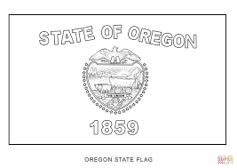 Small Picture Flag of Oregon coloring page Free Printable Coloring Pages