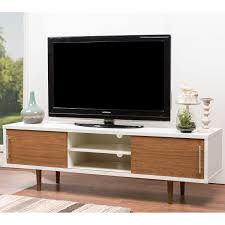 Tv Stand Designs For Living Room Mid Century White And Brown Tv Stand By Baxton Studio By Baxton