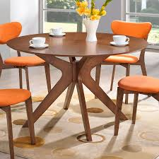 Balboa Modern Round Dining Table In Walnut Eurway - Walnut dining room furniture