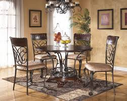 Iron Table And Chairs Set End Tables For Living Room Home Goods Vintage Round Metal Side