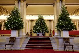 queens of england royal christmas trees buckingham palace