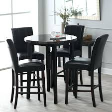round pub table set black with wine rack and chairs costco