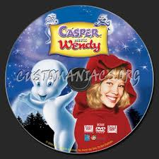 casper and wendy. casper meets wendy dvd label and