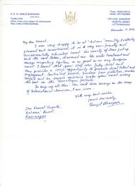 Letter Of Appreciation Simple Letter Of Appreciation From RK Dr Ranjit Bhargava Padma Shri