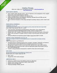 Graphic Design Resume Interesting Graphic Design Resume Sample Writing Guide RG