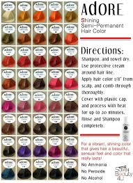 Adore Semi Permanent Hair Color Chart I Use Aquamarine Adore Hair Color Nails And Is Beautiful