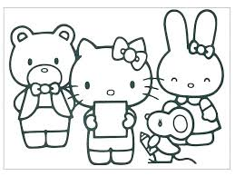Free Coloring Pages Hello Kitty Paraderoborja Org