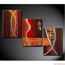 wall art designs three piece wall incredible living room modern abstract metal paintings oil and