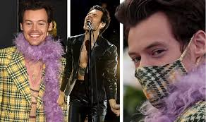 Grammys | Harry Styles stuns fans with another iconic fashion statement at  the 2021 Grammy Awards - Movies