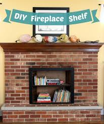 diy fireplace bookshelf a unique way to make your fireplace kid safe or to cover