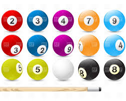 pool table balls clipart. Perfect Pool Billiard Balls Vector Image U2013 Artwork Of Sport And Leisure  Good  4886 Click To Zoom Throughout Pool Table Balls Clipart