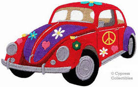 Automobile For Sale Sign Hippie Flower Power Car Embroidered Patch W Peace Sign Applique Automobile
