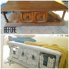 Old Coffee Table Makeovers Upholstered Bench From A Coffee Table Addison Meadows Lane