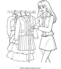 Coloring Pages Fashion Girl Coloring Pages Girls Clothing And
