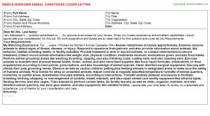 Animal Care Specialist Cover Letters