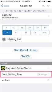Baseball Lineup And Position Chart Player Position Tracking Gamechanger