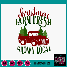 Find this design in our huge farmhouse bundle with 40 designs! Christmas Tree Farm Fresh Truck Svg Dxf Png Eps