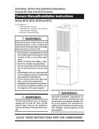 Nordyne Gas Furnace Pilot Light Nordyne Air Conditioner M1m User Manual Manualzz Com